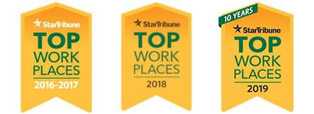 Top Work Places 2017-2019 - Star Tribune