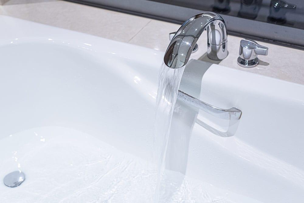 Running Water Filling Bathtub