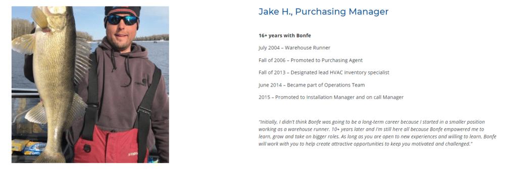 Jake H, Purchasing Manager