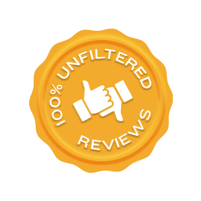 100% Unfiltered Reviews Badge